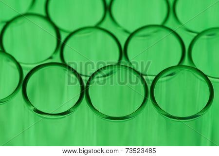 Green Test Tube Background