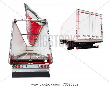 Back part of an open semitrailer