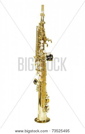 image of a clarinet isolated under the white background