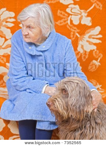Old Woman Whit The Dog