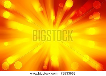Abstract Illustration Of Big Explosion