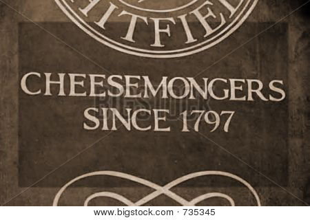 Cheesemongers sign