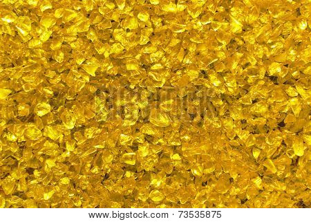 golden glass granules background