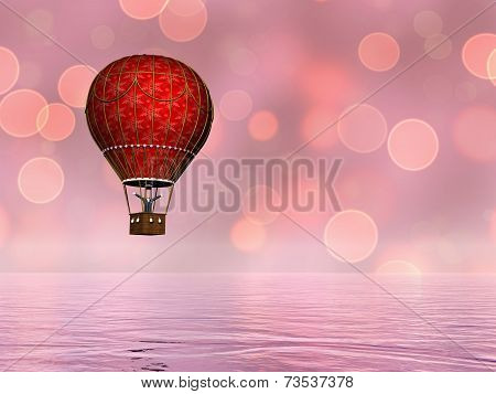 Hot air balloon - 3D render