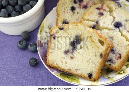Mixed Berry Bread Closeup