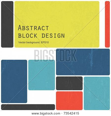 Abstract retro blocks design background colorful, Vector