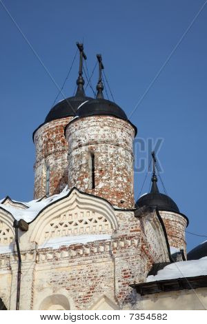 Neglected Orthodox Church In Kirillov, Russia