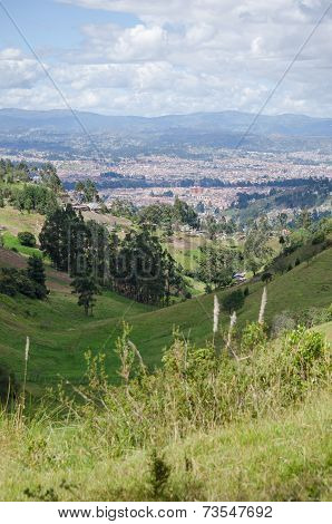 Valley view of Cuenca