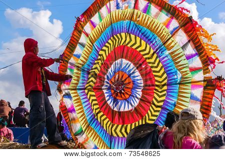 Boy & Colorful Kite, All Saints' Day, Guatemala
