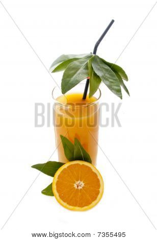 Orange Juice in Tropical Style
