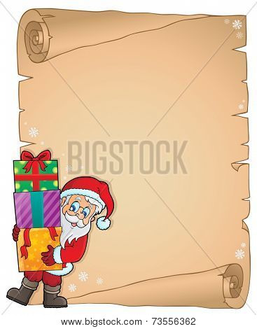 Christmas thematic parchment 6 - eps10 vector illustration.
