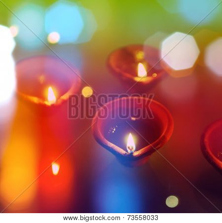 An abstract colorful diwali greeting card cover with traditional an abstract colorful diwali greeting card cover with traditional diyas poster m4hsunfo