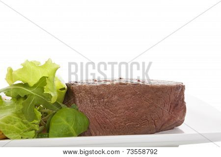 Big Steak With Salad.