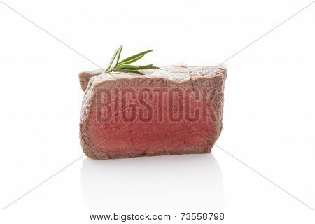 Steak Isolated On White Background. Juicy steak.