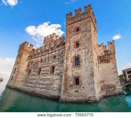 Sirmione Castle On Lake Garda, Italy