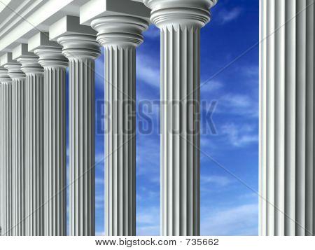 Columns & Sky (angle 2)