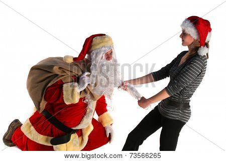 Santa with a young girl