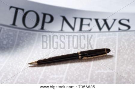 News On A Newspaper