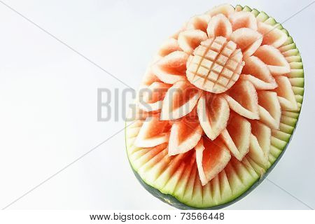 Design Carving Flower Watermelon