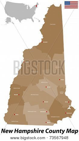 New Hampshire County Map