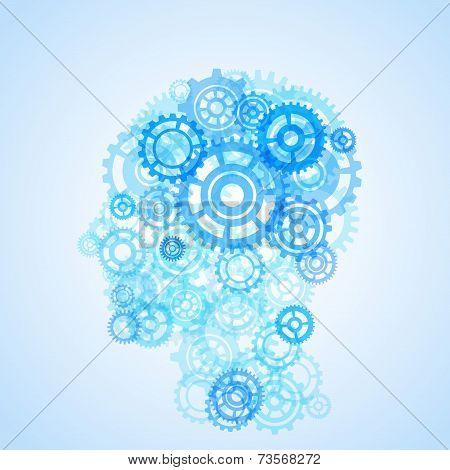 Human Head Shape Model Creative Illustration