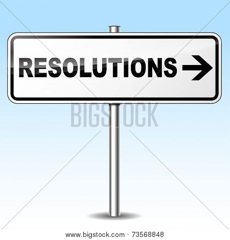 Resolutions Sign