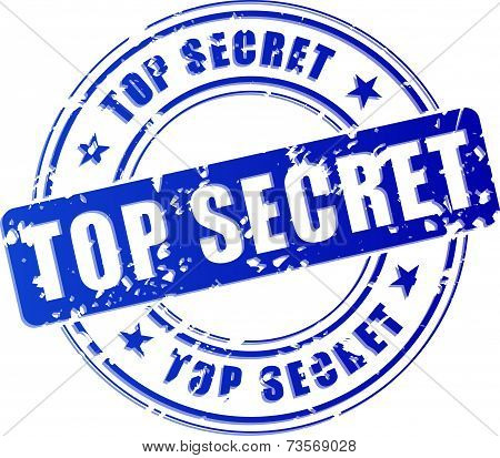 Top Secret Blue Stamp