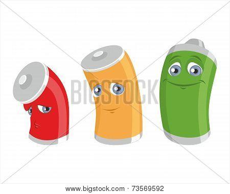 Three Battery Charging Levels