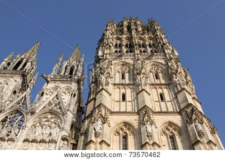 The cathedral of Rouen in Normandy