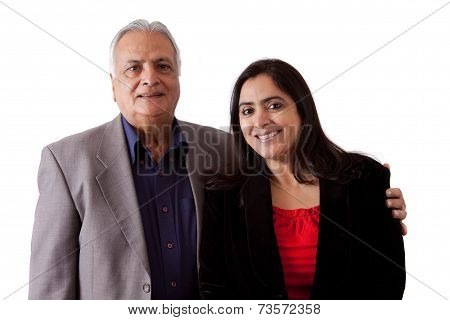 East Indian Father And Daughter