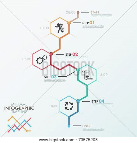 Minimal infographic timeline