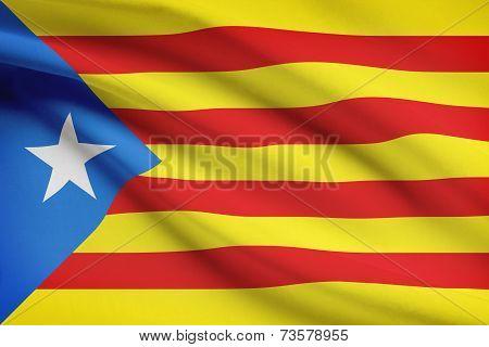 Series Of Ruffled Flags - Catalonia - Estelada