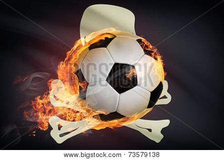 Soccer Ball With Flag On Background Series - Jolly Roger Flag - Tampa Bay Buccaneers