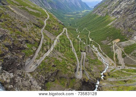 Trollstigen (troll's Footpath), Norway