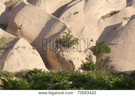 Rock formations in Goreme National Park. Cappadocia Turkey