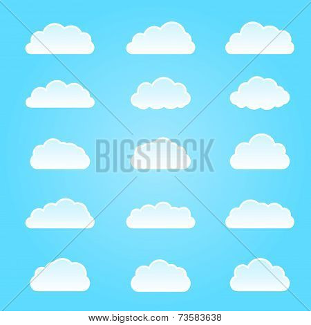 Cloud  icon. Vector illustration