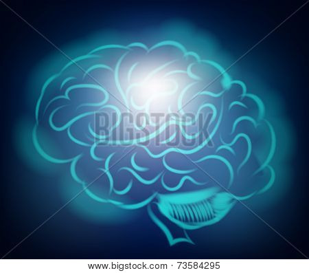 Light Of The Human Brain. Abstract Illustration