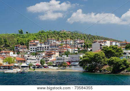 Greece, Sithonia, Embankment In Neos Marmaras