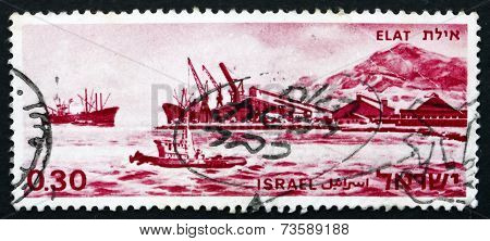 Postage Stamp Israel 1969 Port Of Eilat, Israel