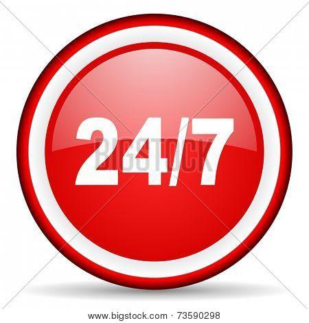 24/7 web icon