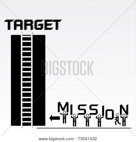 Business Mission and Achievement Concept