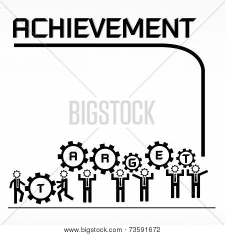 Vector of target for business achievement concept