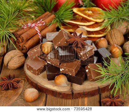 Christmas Chocolate Fudge
