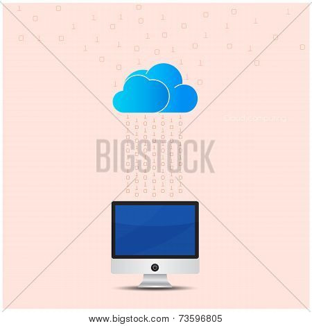 Cloud Technology Computing Background Concept. Data Storage Network Sever Internet Technology.