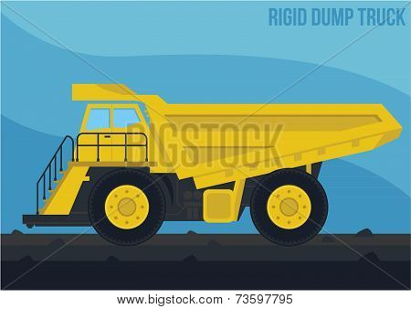 mining marchinery_rigid dump truck