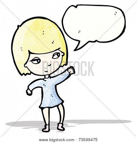 pretty blond girl cartoon