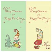 pic of gnome  - Vector Set of Christmas Gnome - JPG