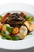 image of tiger prawn  - Seafood Spaghetti with Tiger Prawns - JPG