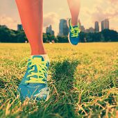 stock photo of jogger  - Healthy lifestyle runner  - JPG