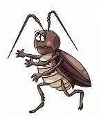 stock photo of cockroach  - cockroaches Cartoon Illustration Editable  - JPG